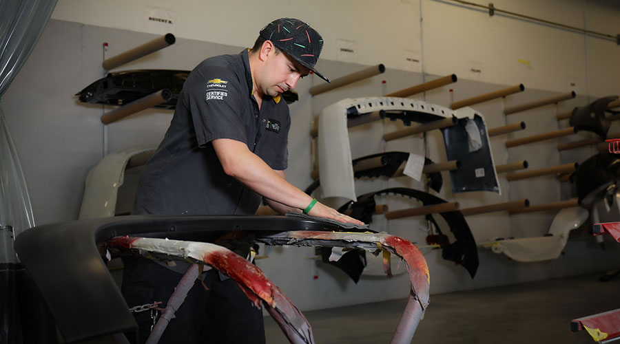 Bumper repair and replacement at Hewlett Collision Center in Georgetown, TX